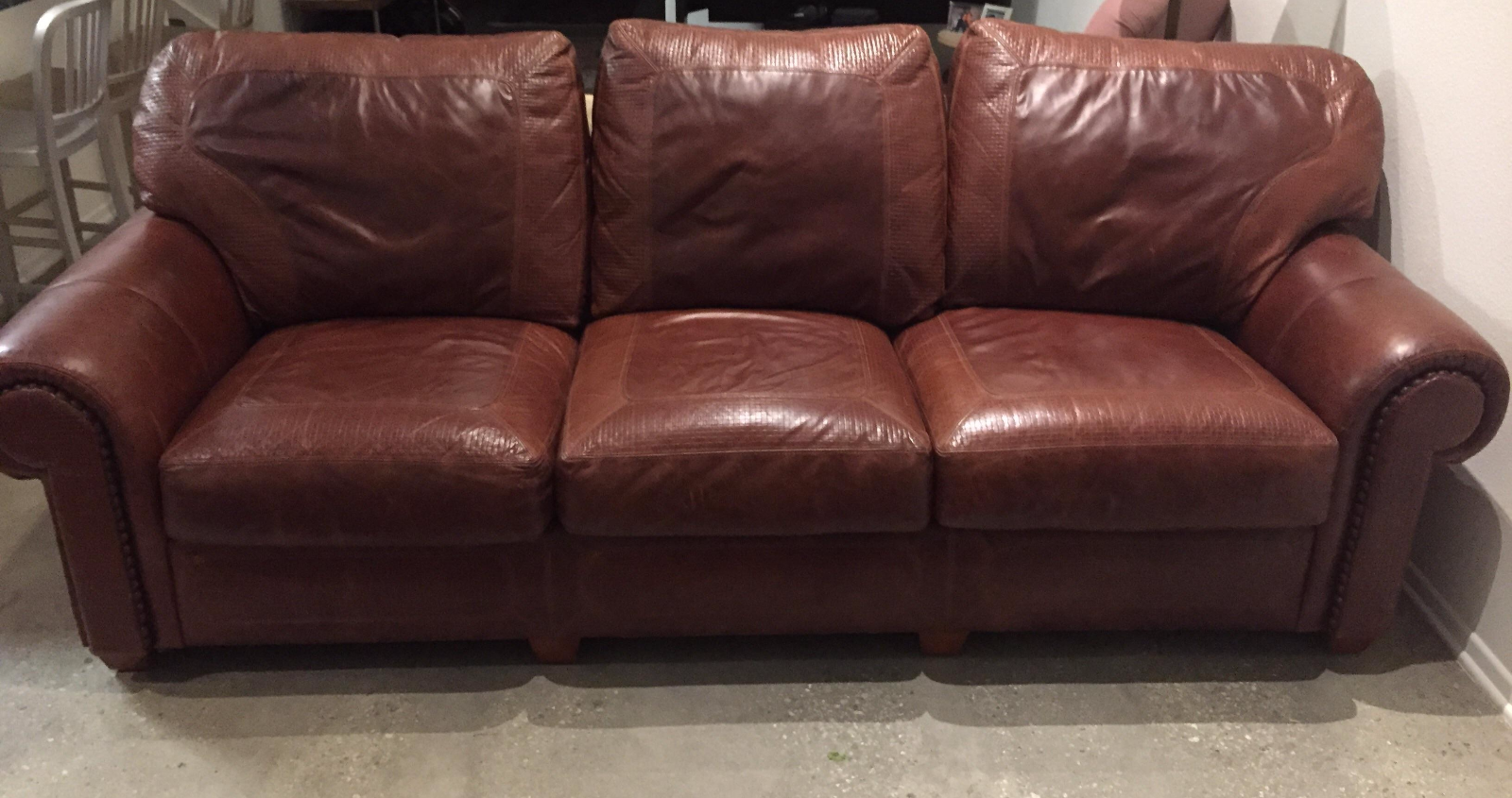 Stickley Santa Fe Leather Sofa   Image 2 Of 8