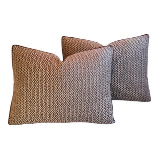 Italian Mariano Fortuny Tapa Feather & Down Pillows - A Pair