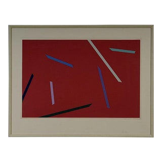 Alan Cote 1970's Abstract Screenprint