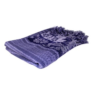 Mexican Blue Rebozo Table Runner