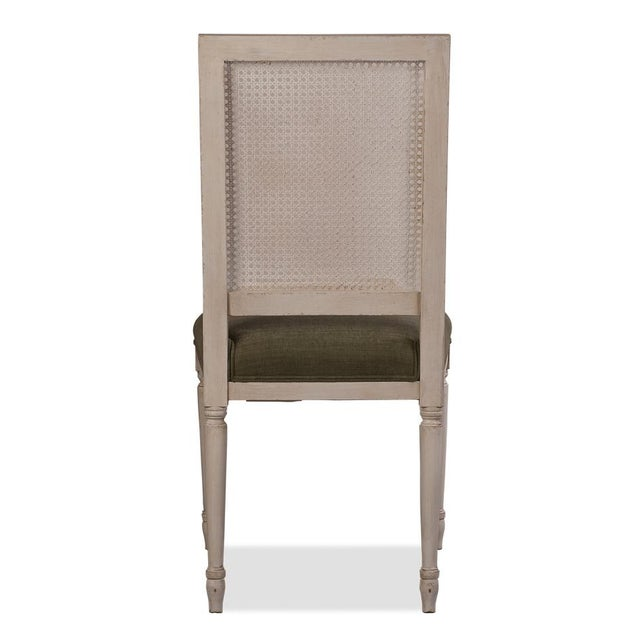 Sarreid Ltd Adams Cane Back Beechwood Dining Chairs- A Pair - Image 5 of 6