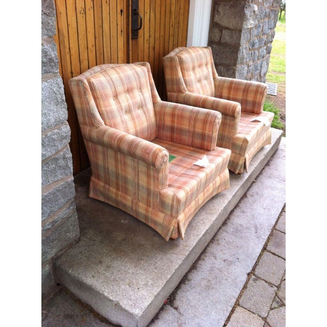 Vintage Ethan Allen Club Chairs - A Pair - Image 6 of 8