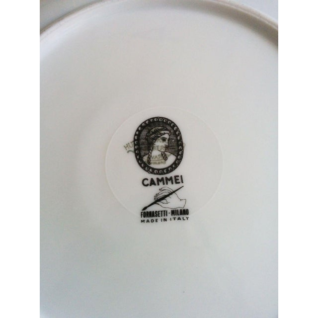 Vintage Piero Fornasetti Malachite Plates - Pair - Image 5 of 5