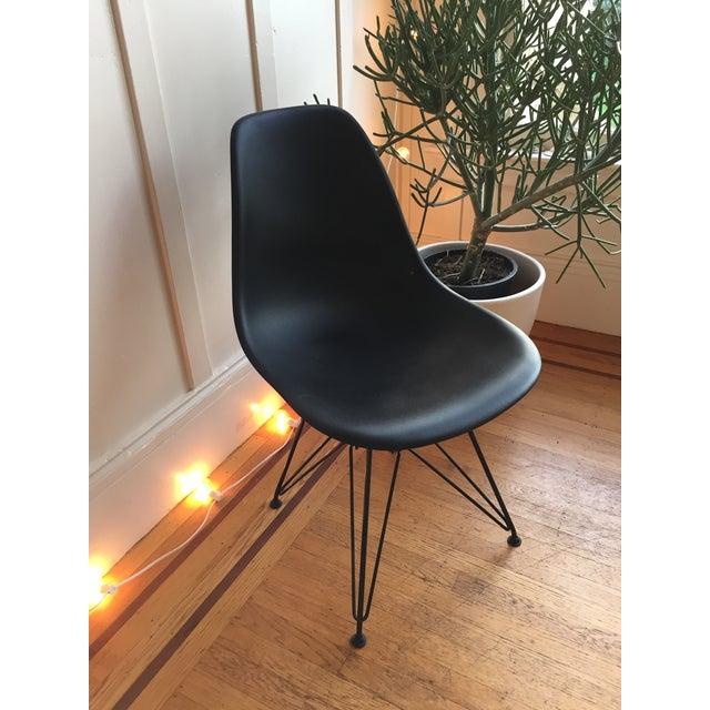 Black Eames Dwr Molded Plastic Dsr Side Chair Chairish
