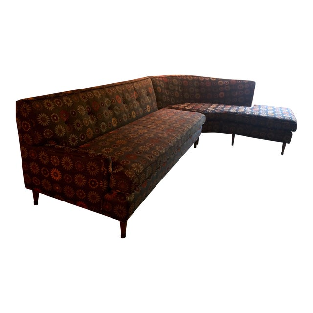 Mid century modern curved sectional sofa vintage re for Vintage mid century modern sectional sofa