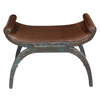 Paul Marra Neoclassical Bench in Faux Bronze