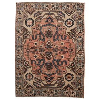 "Hand Knotted Wool Persian Tabriz Rug - 7'6"" X 10'5"