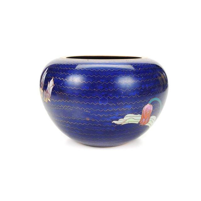 Japanese Antique Blue Cloisonne Vase - Image 2 of 7
