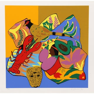 Hunt Slonem Serigraph - Lobster
