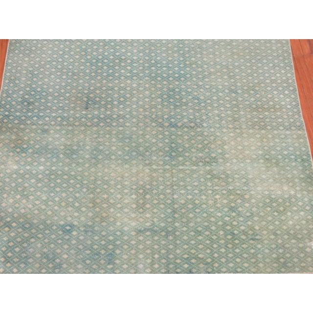Mint Green Turkish Overdye Square Rug - Image 3 of 4
