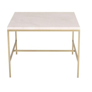 Hogue Travertine Top Side Table