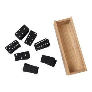 Wood Domino Box Set