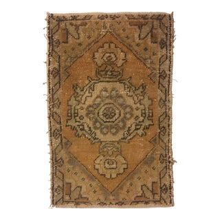 Turkish Hand Kontted Faded Rug - 1′8″ × 2′7″
