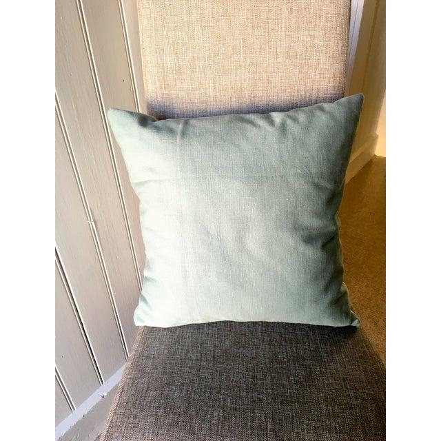 """Image of Aqua Floral Pillow 18"""" X 18"""""""
