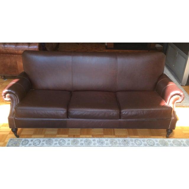 Image of Pottery Barn Brooklyn Leather Sofa