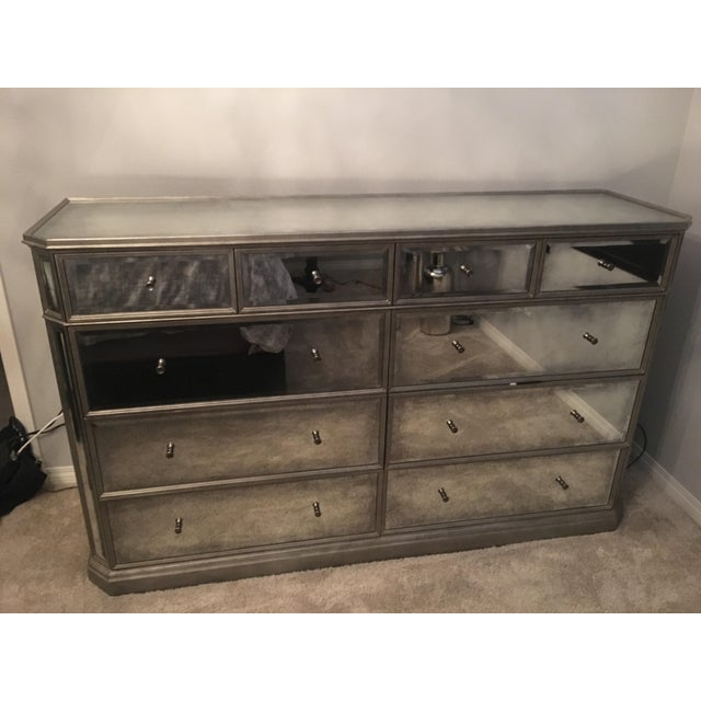 1930s French Mirrored 8-Drawer Low Chest - Image 2 of 5