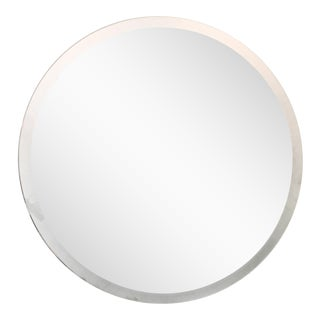 Round Mirror With Frosted Edge