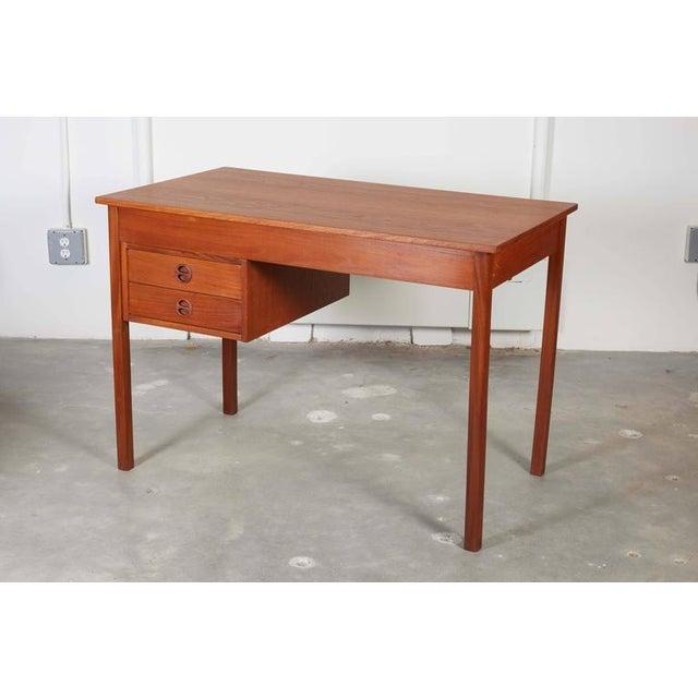 Danish Teak Desk - Image 2 of 9