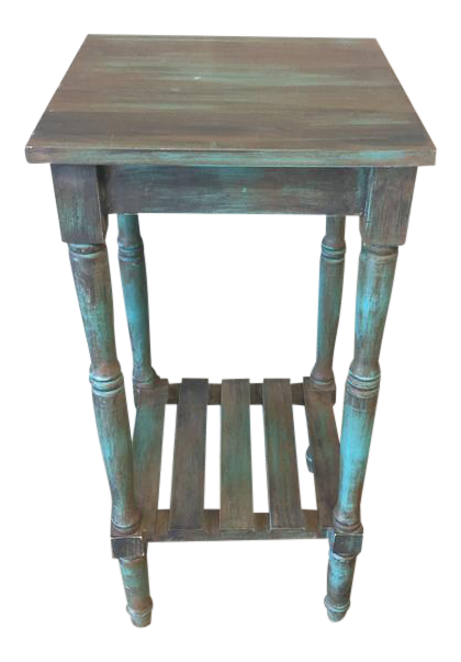 Upcycled Mission Style Side Table