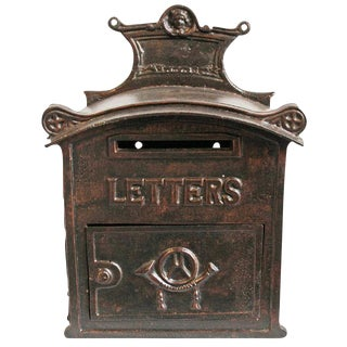 Antique Iron Mail Box
