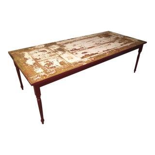 Repurposed Door Table, Rustic Style