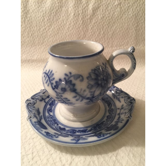 Villeroy & Boch Blue & White Cup & Saucer - A Pair - Image 2 of 7