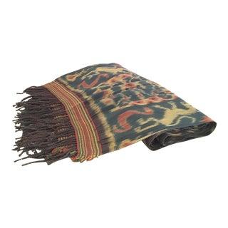 Early 20th Century Sumba Ikat Hinggi Wrap Throw