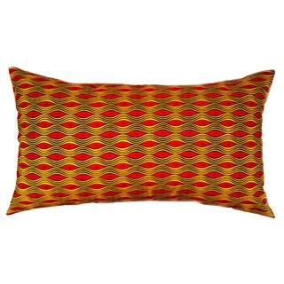 African Wave Print Lumbar Pillow Cover