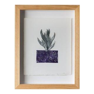 Crassula Purple Staple Leaf on Paper