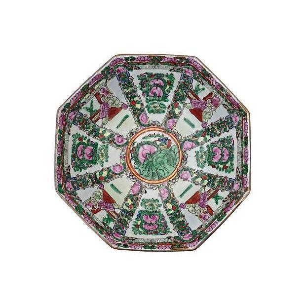 Mid-Century Famille Rose Porcelain Octagonal Bowl - Image 3 of 3