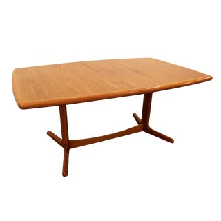 Laurits M. Larsen Mid-Century Danish Modern Extendable Teak Dining Table