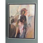 Image of Vintage Abstract Horse & Rider Painting