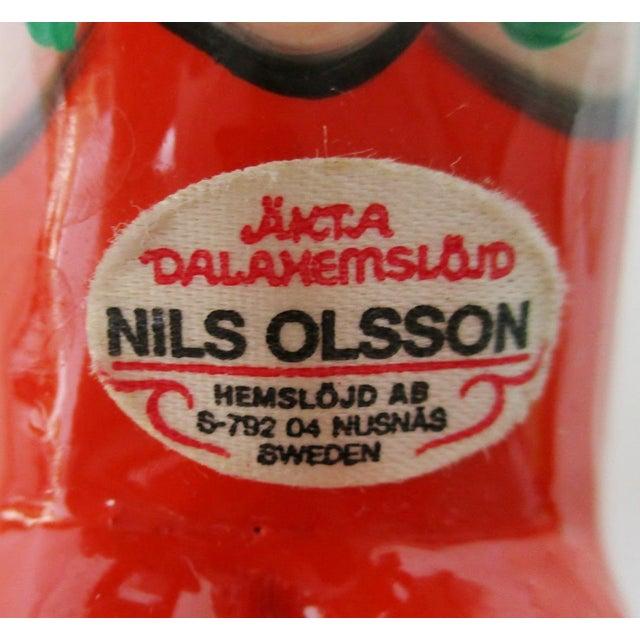 Image of Nils Olsson Swedish Dala Horses- A Pair