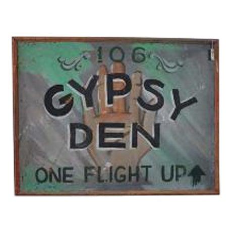 1970s Vintage Gypsy Den Fortune Teller Sign - Image 1 of 5