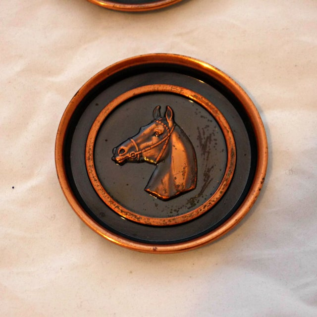Bronze Equestrian Horse Coasters - Set of 6 - Image 5 of 6
