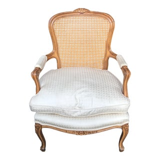 Vintage French Cane Bergere Chair