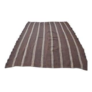 Turkish Faded Wool Kilim Rug