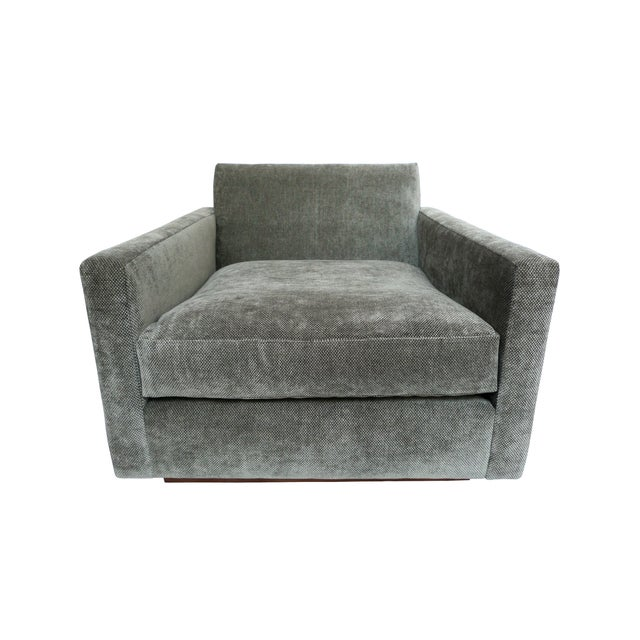 1970s Milo Baughman Gray Cube Chair - Image 2 of 8