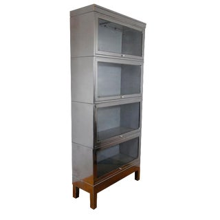 Industrial Glass Door Barrister Bookcase