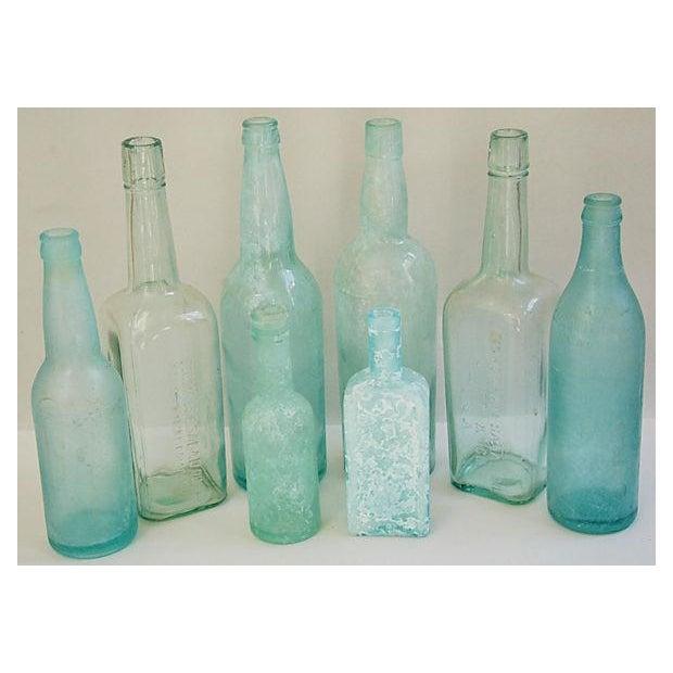 Antique Mediterranean-Blue Bottles - Set of 8 - Image 2 of 8