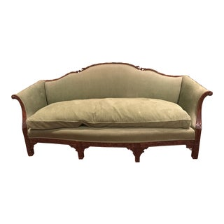 Chippendale Carved Mahogany Sofa