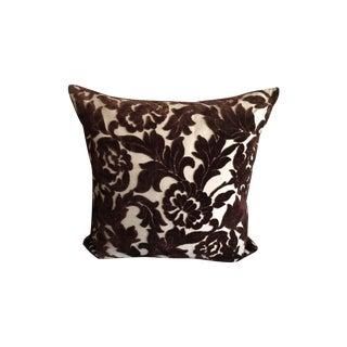 Vintage Velvet Embossed Floral Pillow