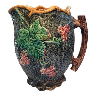 English Majolica Pitcher