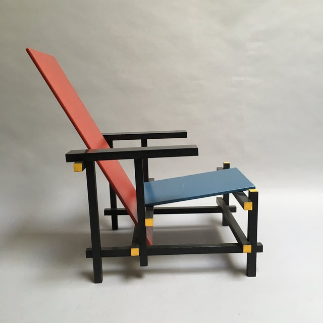 The Red and Blue Chair by Gerrit Rietveld - Image 3 of 5