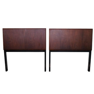 Vintage Danish Modern Teak Twin Headboards - A Pair