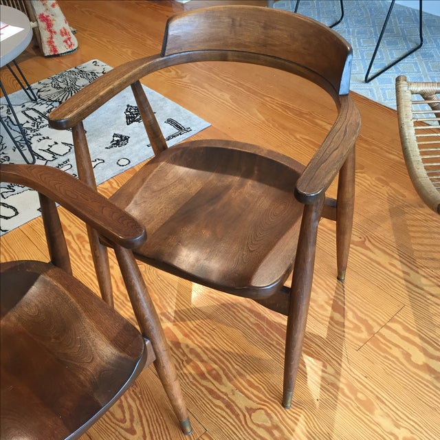 Mid-Century Captain's Chairs - A Pair - Image 3 of 10
