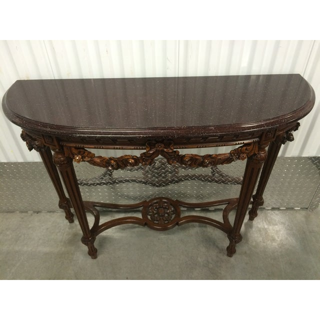 Maitland-Smith Carved Entry Table - Image 5 of 10