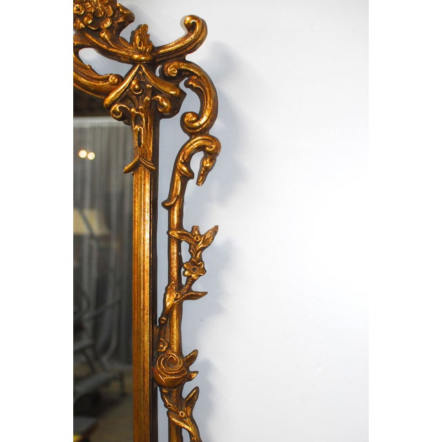 Image of Chinese Chippendale Gilt Wood Mirrors - Pair