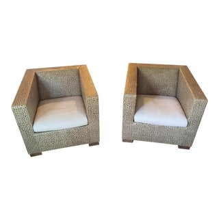 Minotti Suitcase Chairs - Pair