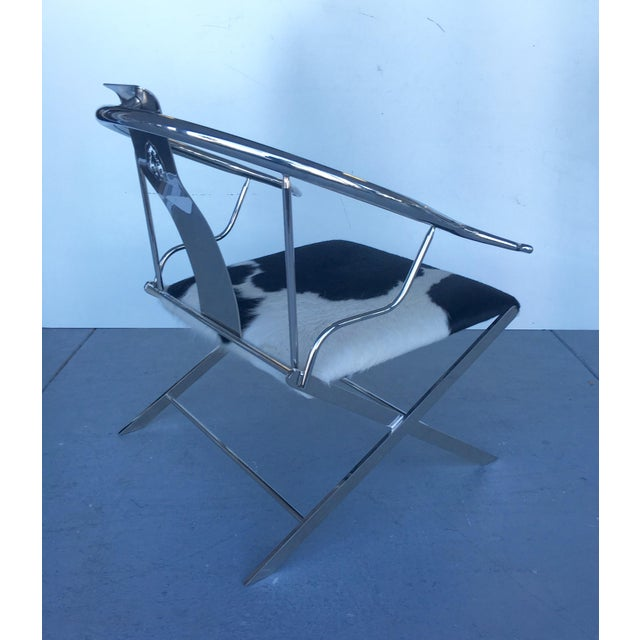 Stainless Steel Modernist Lounge Chair - Image 5 of 7
